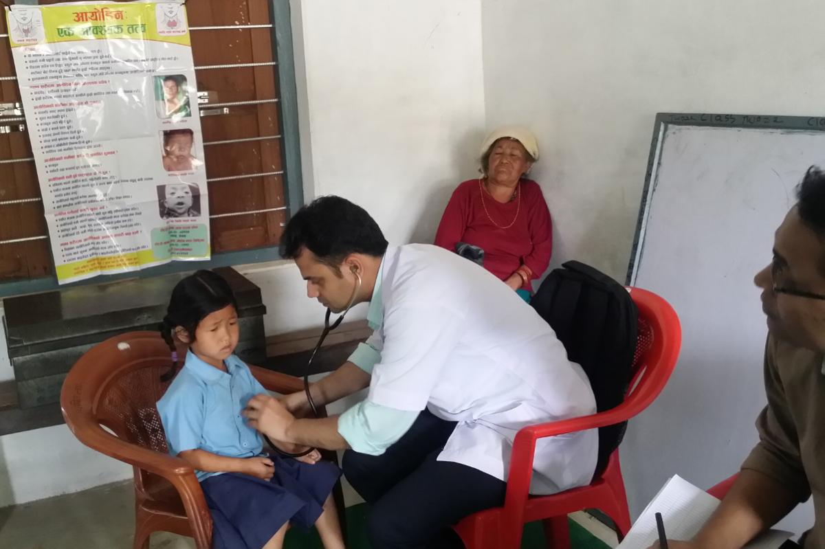Preventing Iodine Deficiency Disease in Nepal - Screening of thyroid disorders of school children at Lungintar School by a paediatrician
