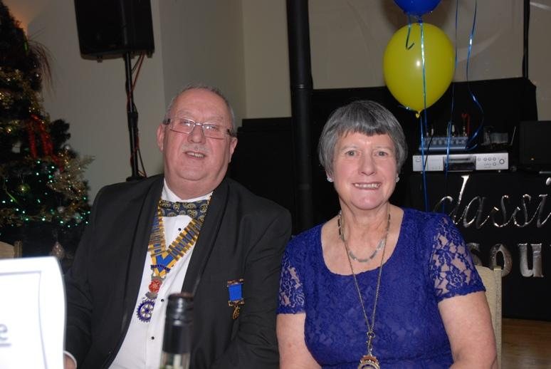 CHARTER DINNER 2015 - President Gary Pretty from Palatine Rotary with President Barbara.
