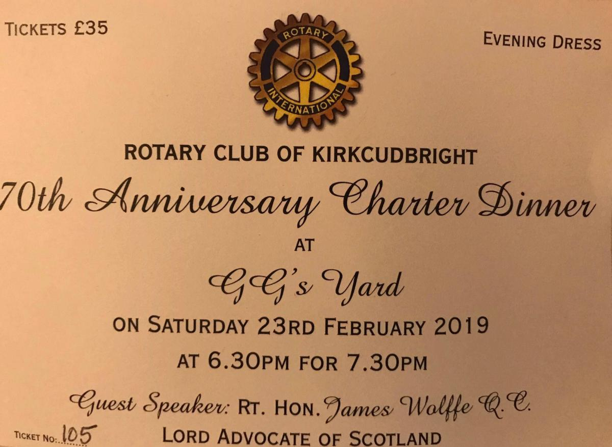 The Rotary Club of Kircudbright 70th anniversary charter dinner - 87287EF6-3FDC-4A18-AAB2-6D6A532B134A