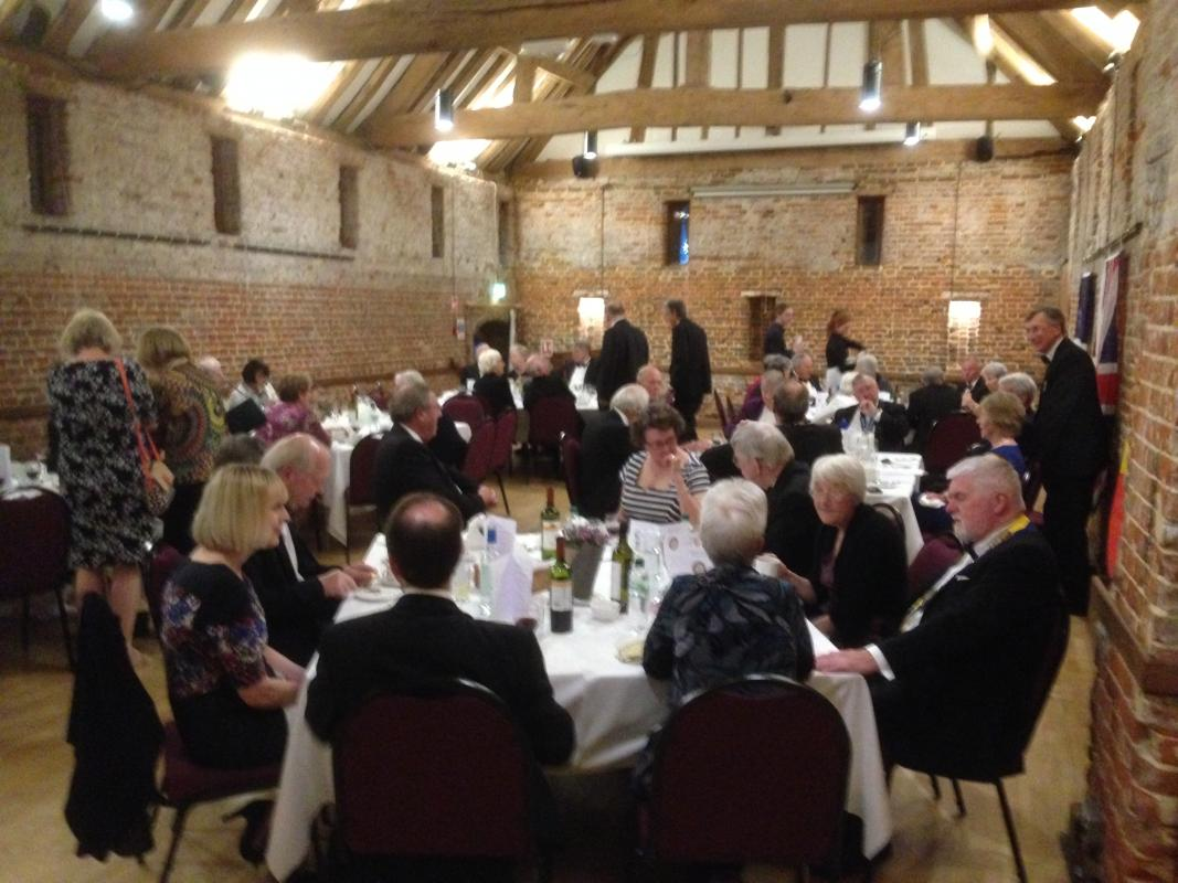 Our 30th Anniversary - A great evening with guests from our Twinning Clubs Belgium and France.