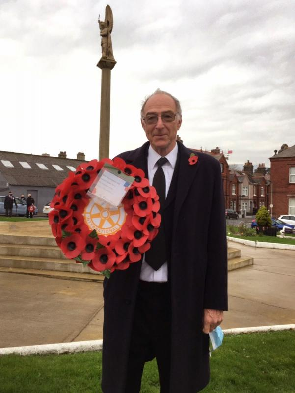 Remembrance Day - PP David and the Rotary Wreath