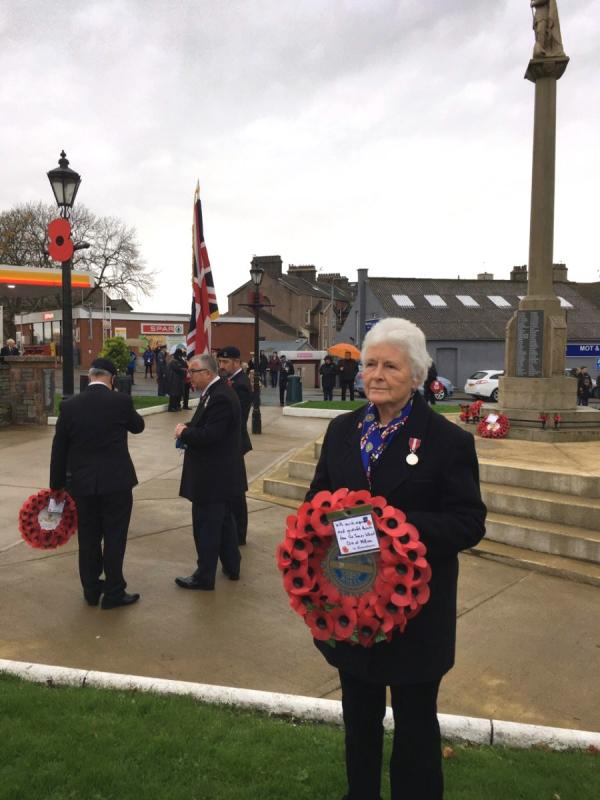 Remembrance Day - President Sue and the Inner Wheel Wreath