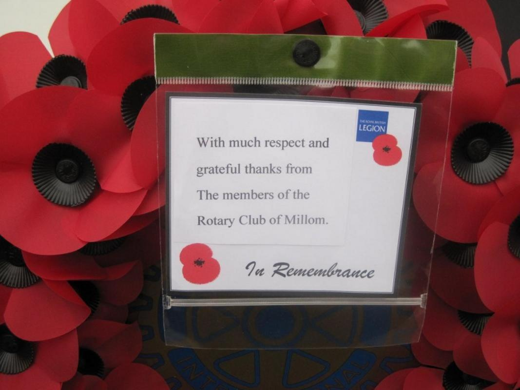 Remembrance Day - Millom's Message