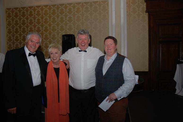 Gerry's Celebration Commemorative Dinner - Elaine Fossett (second left) won the 7 Day Spa Treatment at the Imperial Hotel.