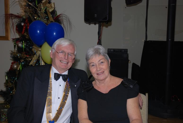 CHARTER DINNER 2015 - Brian Walker, President of Blackpool's oldest Rotary Club with his wife Daphne.