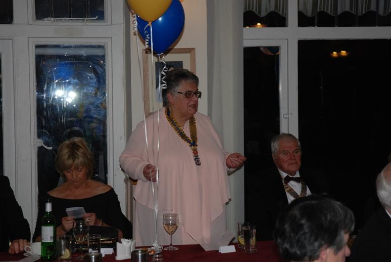 CHARTER DINNER 2016 - President Gail of Palatine Rotary Club responds of behalf of the guests.