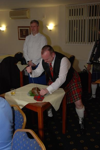 BURNS NIGHT - 2016 - You could almost hear the haggis beg for mercy!