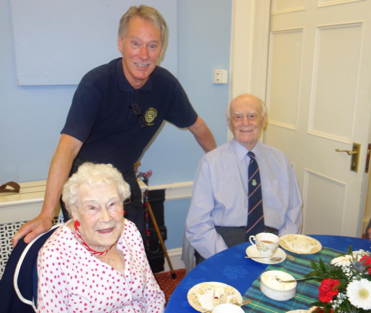 Community & Vocational - The Club hosted a Tea for a number of 90 year olds in Nairnshire in celebration of the Queen's Birthday