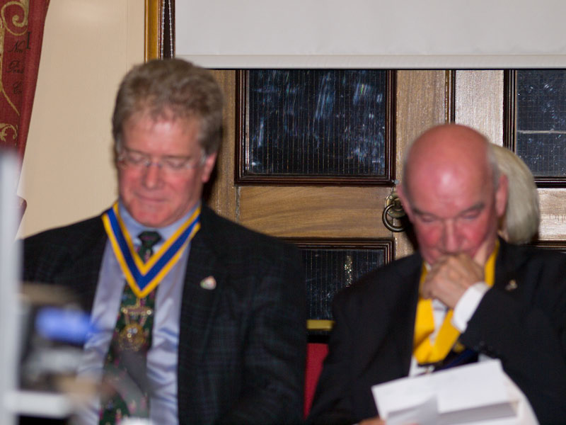 90 Years of Rotary in Kirkcaldy - President Iain and SVP Iain Gow