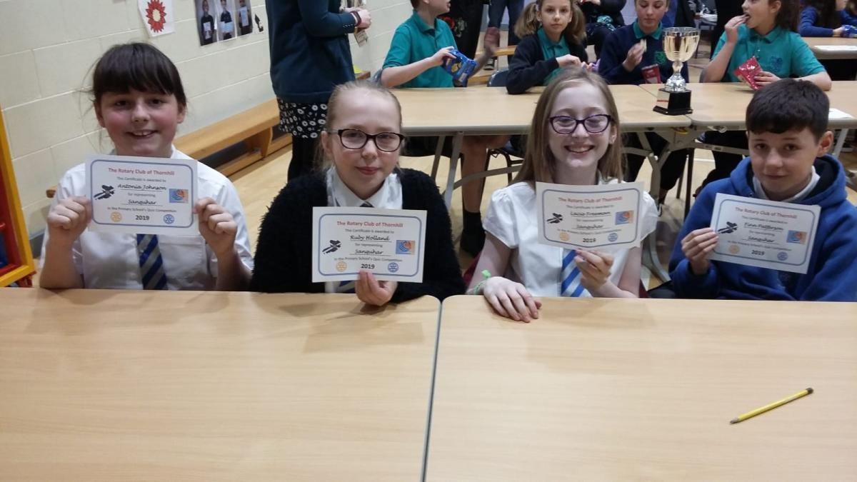 Rotary Primary School Quiz Club Heat 2019 - Sanquhar Primary School Team