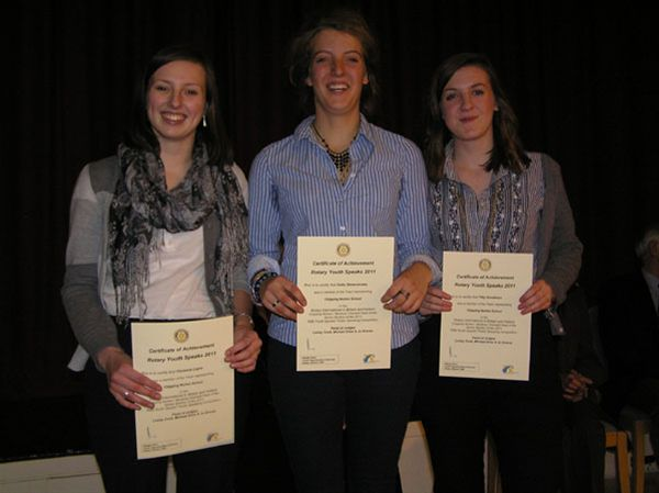 YOUTH SPEAKS 2010 - Chipping Norton School Team A (Snr):