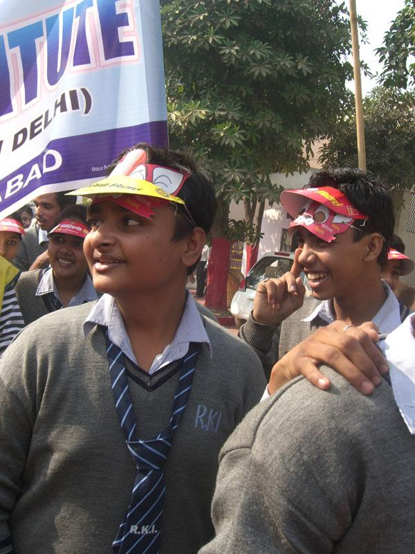 Foundation - A rally of school children 1