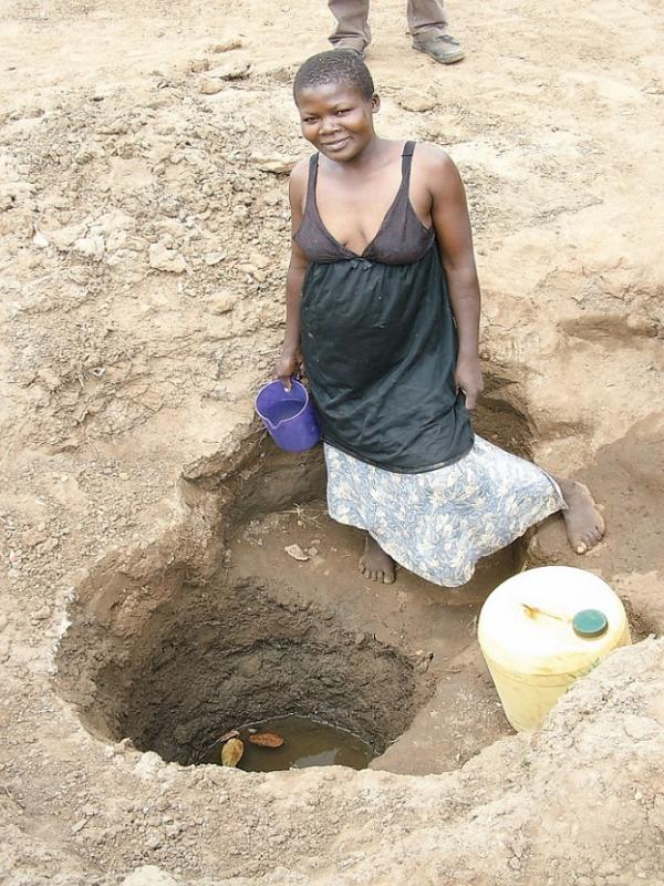 Our work providing clean water  - A well