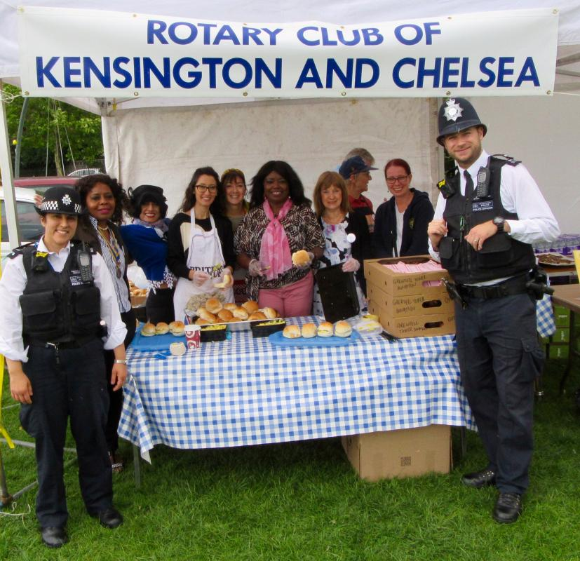 Our Club, our history and our Rotarians - Each year our Club goes out the community to help with Community playdays. This gained more significance in 2017 as we sought to help the children of the Grenfell Tower area.
