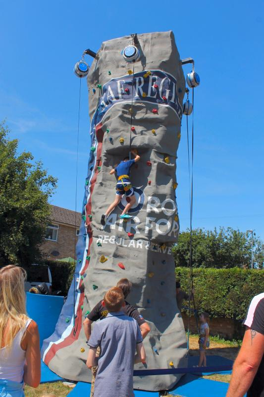 Ely Aquafest 2018 - The RAF climbing wall