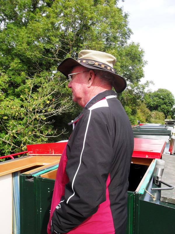2013 Barge Trips for Local Community Groups - Rtn Chris Whittaker waits for the next lock