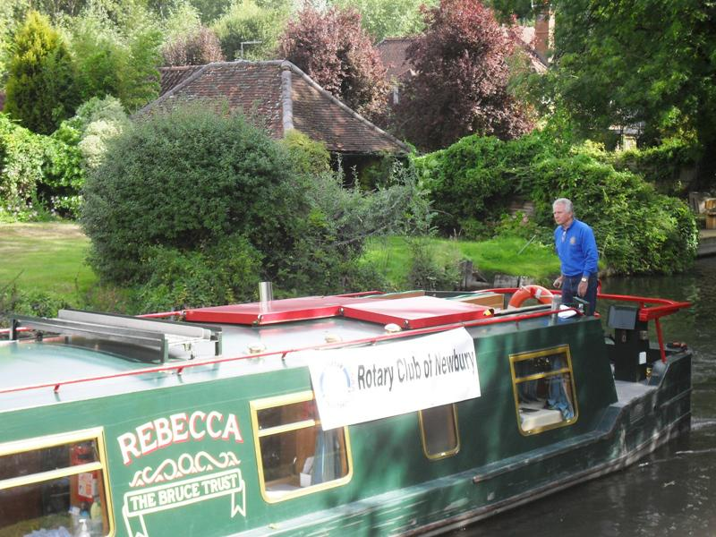 2013 Barge Trips for Local Community Groups - Rtn Chris Bartlam at the helm