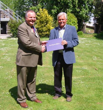 Rotary Awards - District Governor Elect presents the award to Alan Hoggarth