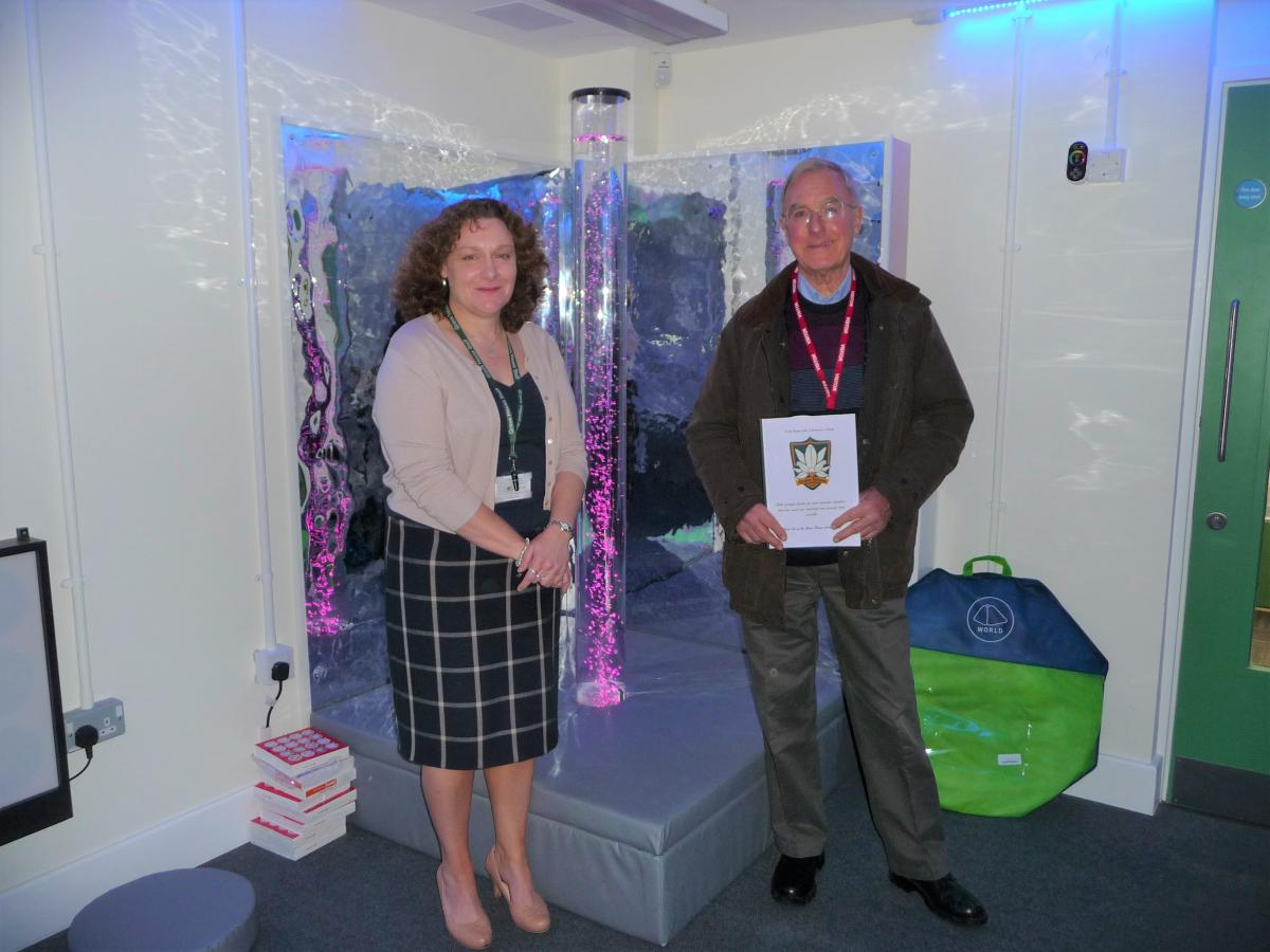 Picture Gallery - Donation made by President Alan to Miss Lisa Christodoulides - Headteacher of Grove House School