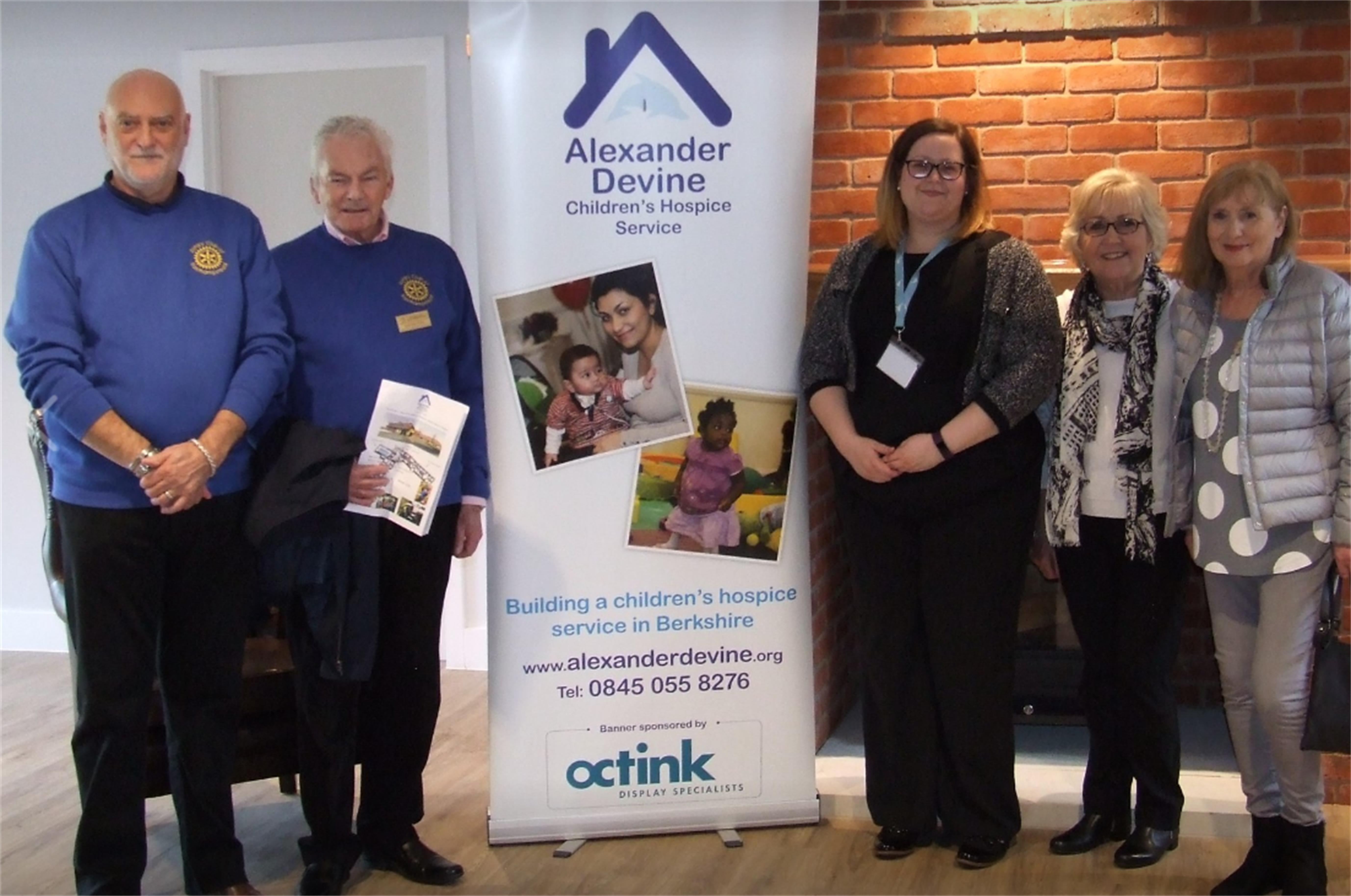 Local charities we support - Alexander Devine