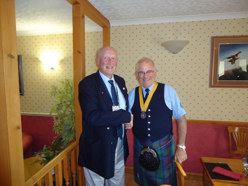 Archives & Visitor Records - Vice President John Taylor welcomes Alistair