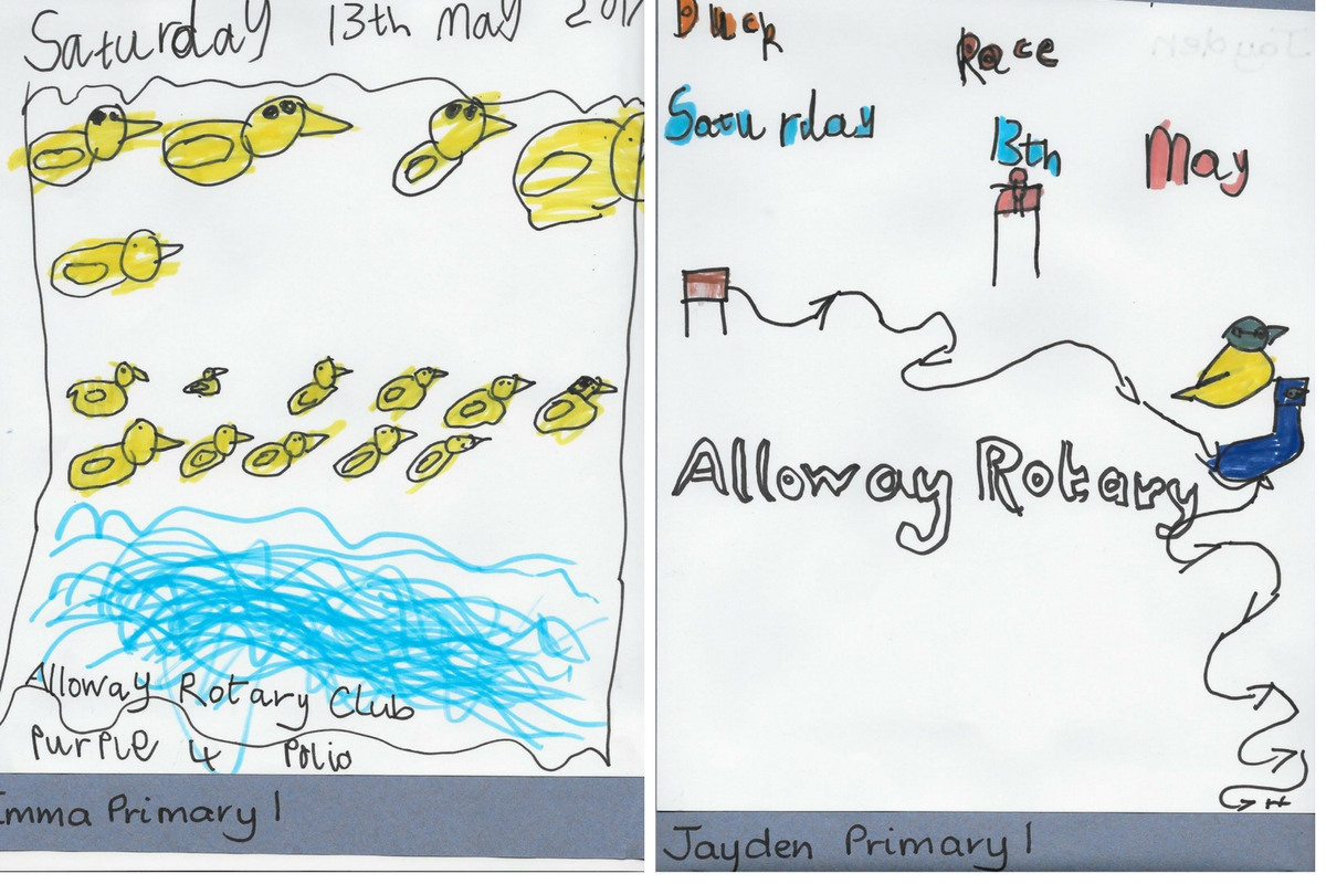 Alloway Primary School Duck Race Posters - Alloway Primary School P1 Duck Race 2017 Posters 2