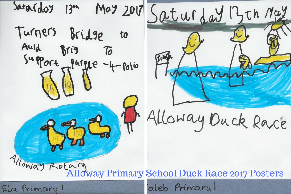 Alloway Primary School Duck Race Posters - Alloway Primary School P1 Duck Race 2017 Posters