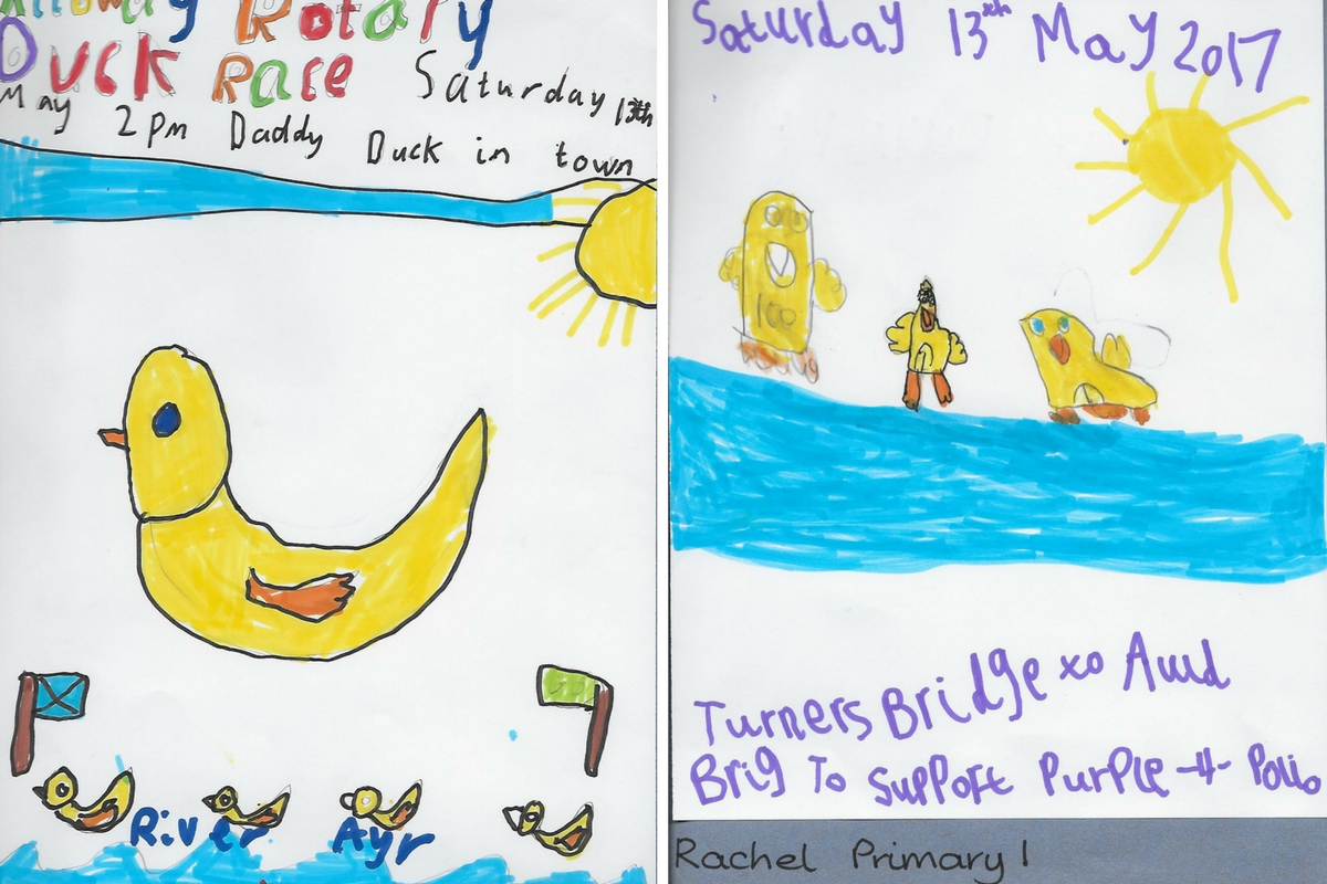 Alloway Primary School Duck Race Posters - Alloway Primary School P1 2 Duck Race Posters