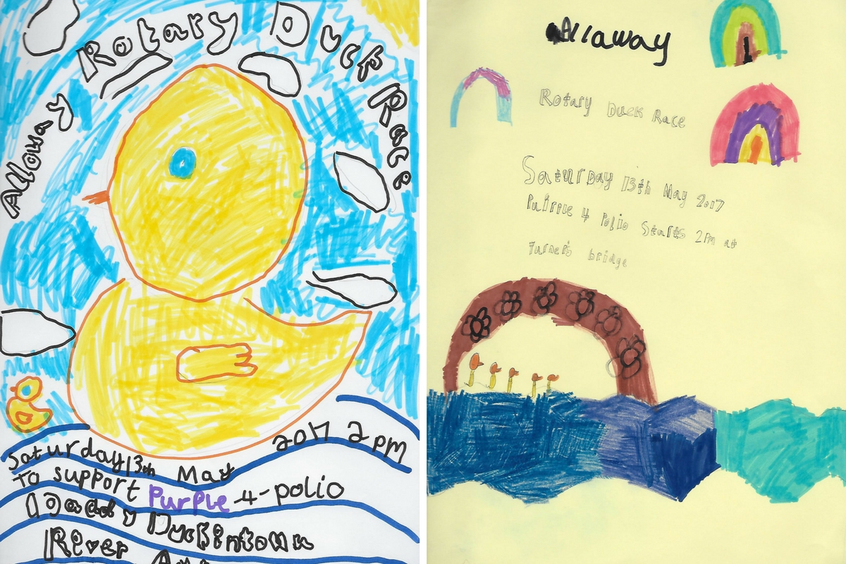 Alloway Primary School Duck Race Posters - Alloway Primary School P2 Duck Race Posters 1