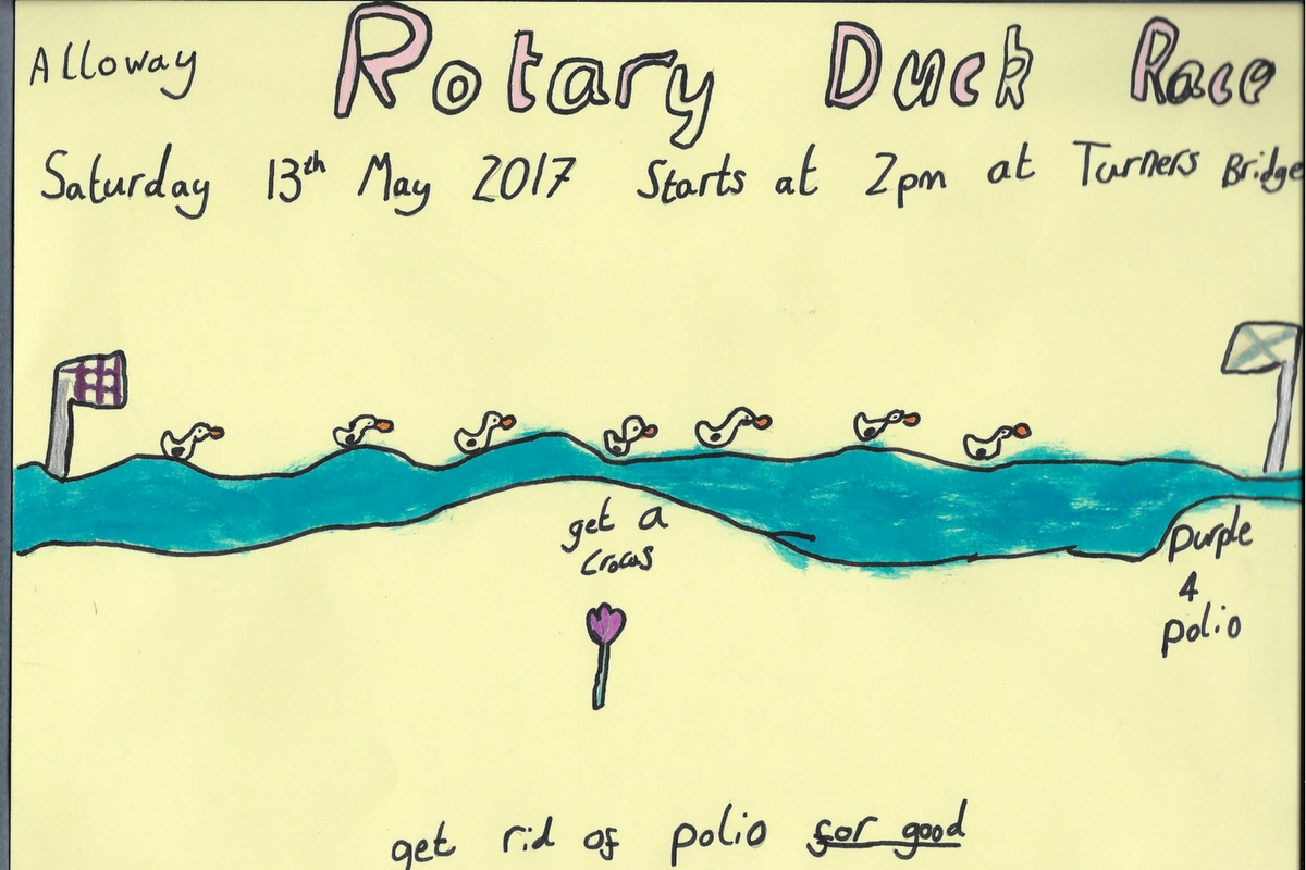 Alloway Primary School Duck Race Posters - Alloway Primary School P2 Duck Race Posters 2