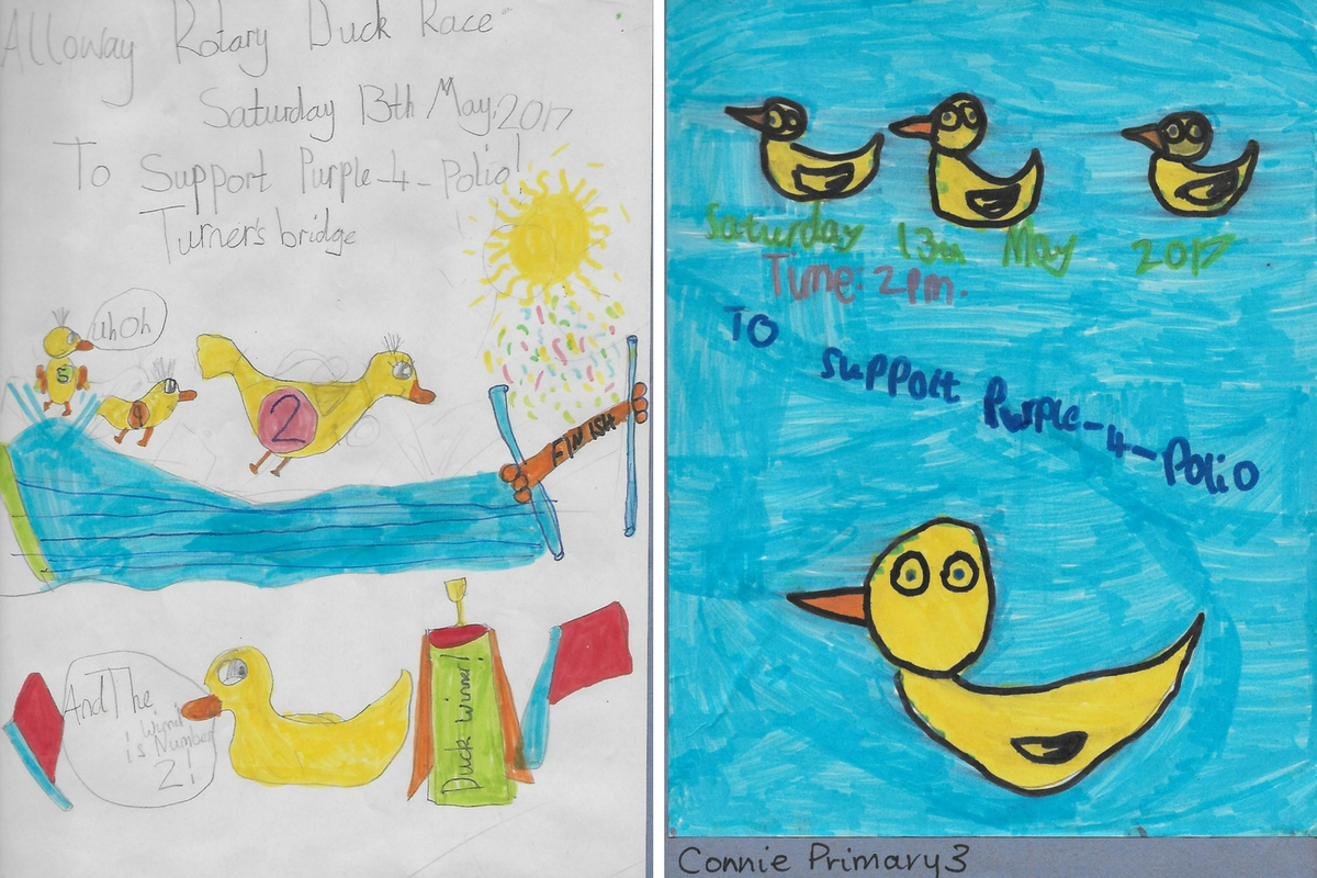 Alloway Primary School Duck Race Posters - Alloway Primary School P3 Duck Race 2017 Posters 2