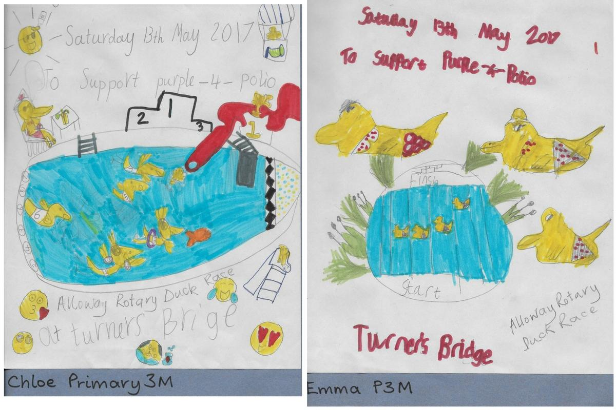 Alloway Primary School Duck Race Posters - Alloway Primary School P3