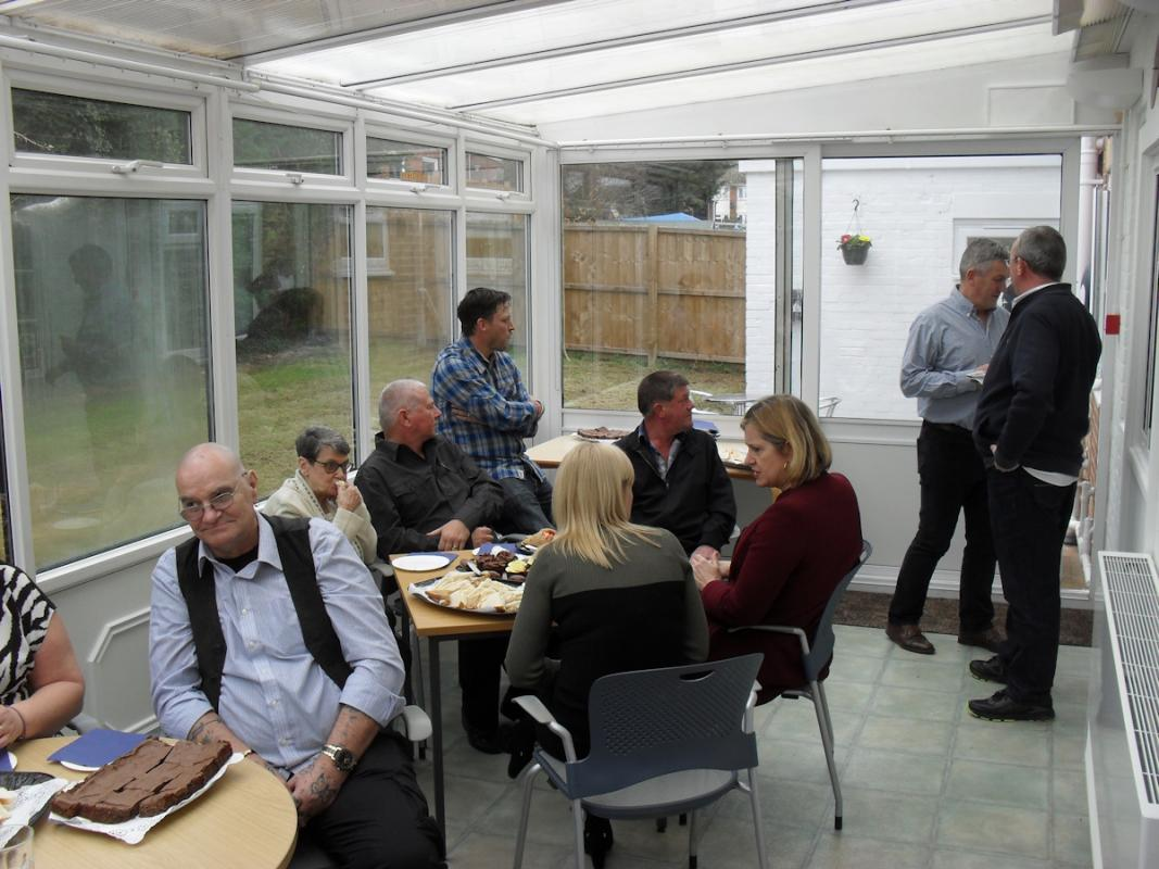 New Halcon Link Centre - Work and Pensions Secretary Amber Rudd MP meeting residents