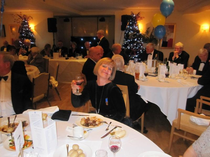 BLACKPOOL SOUTH ROTARY CLUB 2013  CHARTER DINNER.  - And cheers to you Lorraine.