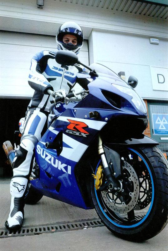 Andrew Garthwaite's Suzuki GSXR600 Adaption  - on his motorcycle