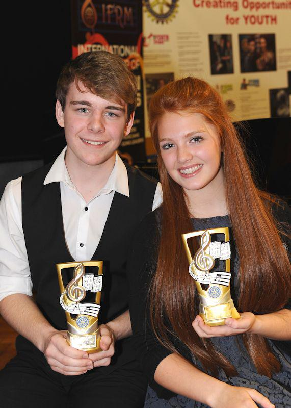 Young Musician Competition - Winning Instrumentalist Andrew Taysum with winning vocalist Abigail Strudwicke