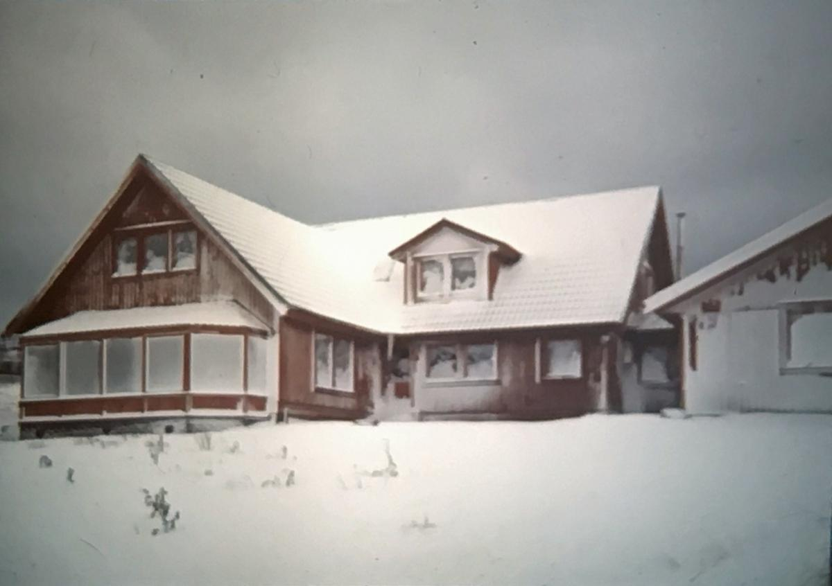Speaker Anita Mosey - Anita and Stuart's house in Stanley on a rare snowy day