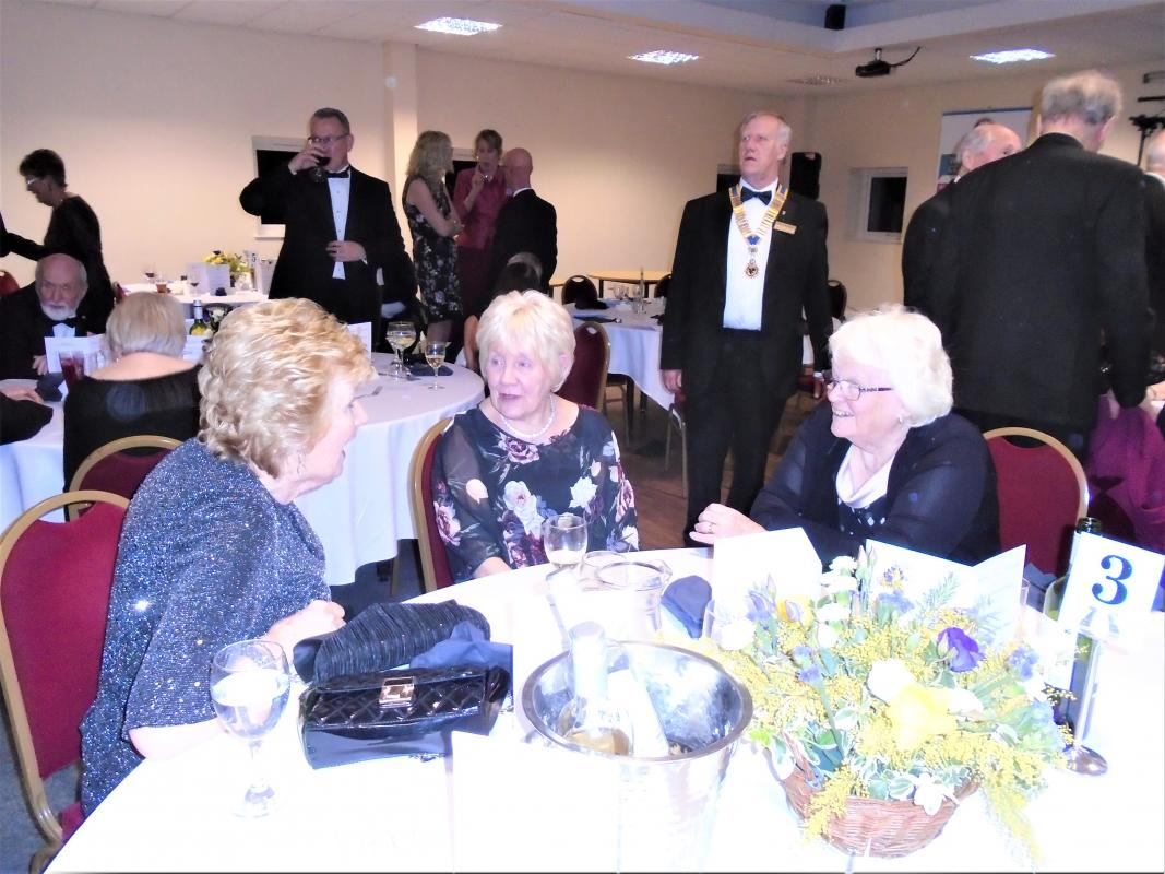 Nantwich Rotary 85th Charter Night - Ann Thompson, Pam Smith and June Poppleton