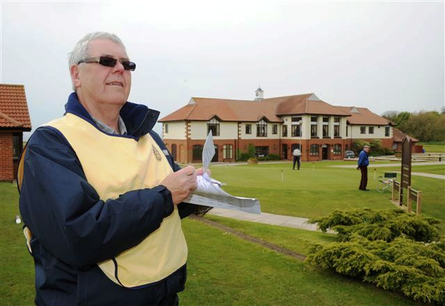2012 Annual Charity Golf Competition - Keith Lowe seeing the teams off