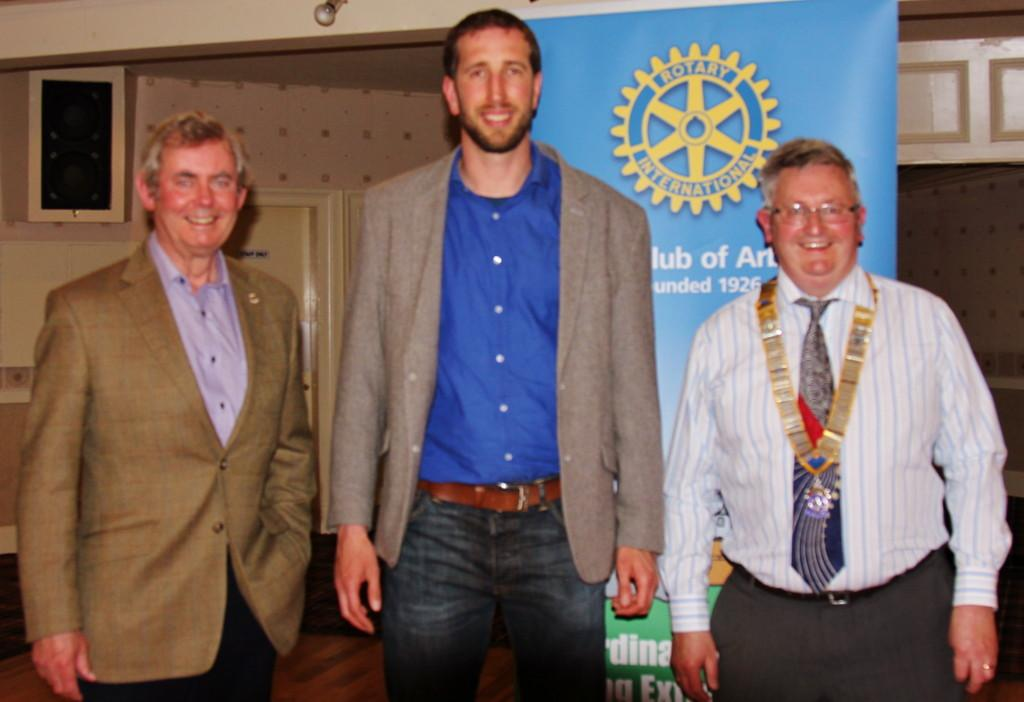 Club Photo Gallery July 2015 to June 2016 - Jack, the Motoring Correspondent at the Courier was a Guest Speaker in May 2016 (L-R President David Miller, Jack McKeown, Ian Lamb