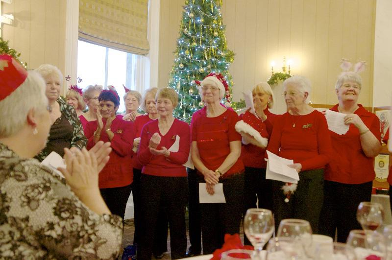 Diamond Jubilee Christmas Lunch     with Guest Speaker Right Reverend Lorna Hood  - The Ardgowan Hospice Choir delighted the guests with their repertoire of festive songs.