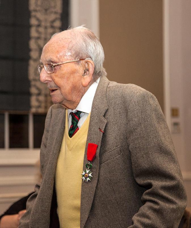 Supper Meeting with a Thame hero - Arthur Staggs in 2013