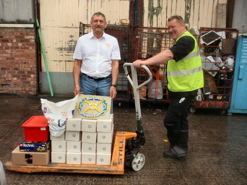 Shoe boxes and Lego to Preston Warehouse - At the Warehouse