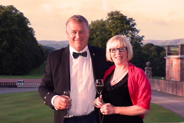 40th Anniversary Charter Dinner - Left to Right: Trevor Dykes,Gill Dykes