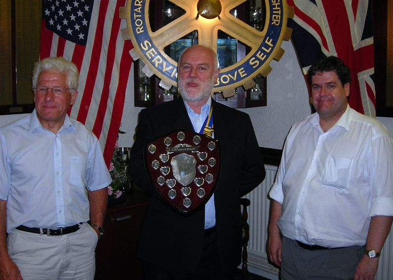 Club Assembly 2009 - Graham and Andrew both attended the most meetings of all the membership, and so received the Attendance Shield jointly.