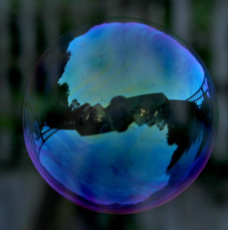 2016-17 Young Photographer Competition Results - Dartmouth Academy, RC of Dartmouth - I have used a reflection in a bubble to show how it can be distorted. The picture was taken early on a blue sky morning to ensure the colours were as strong as possible