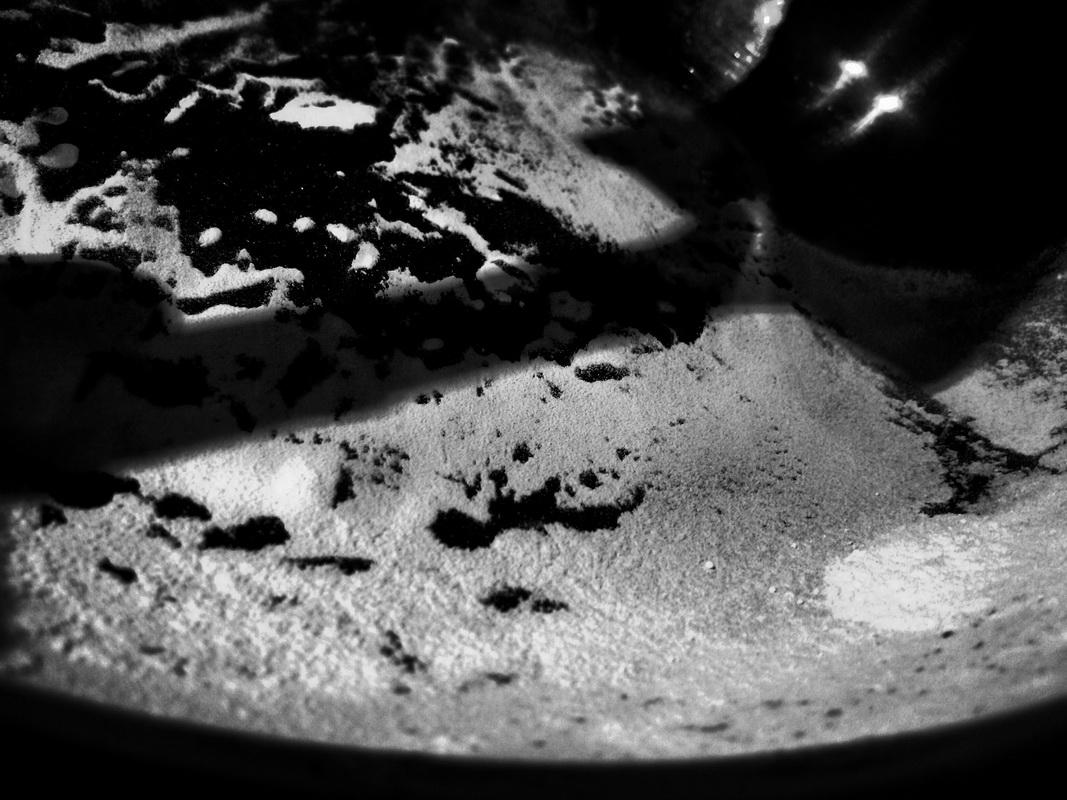 2016-17 Young Photographer Competition Results - Budehaven Community School, RC of Bude - This photo is of flour in weighing scales. It shows the contrast between black and white