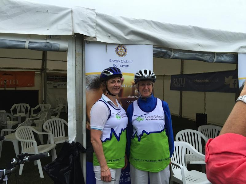 Bike Bath Sponsored Cycle Ride - BB Presidents Val and Alison