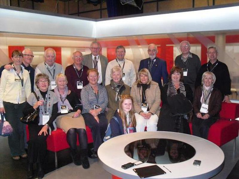 Visit to BBC Newcastle - The Washington Forge visitors on the couch