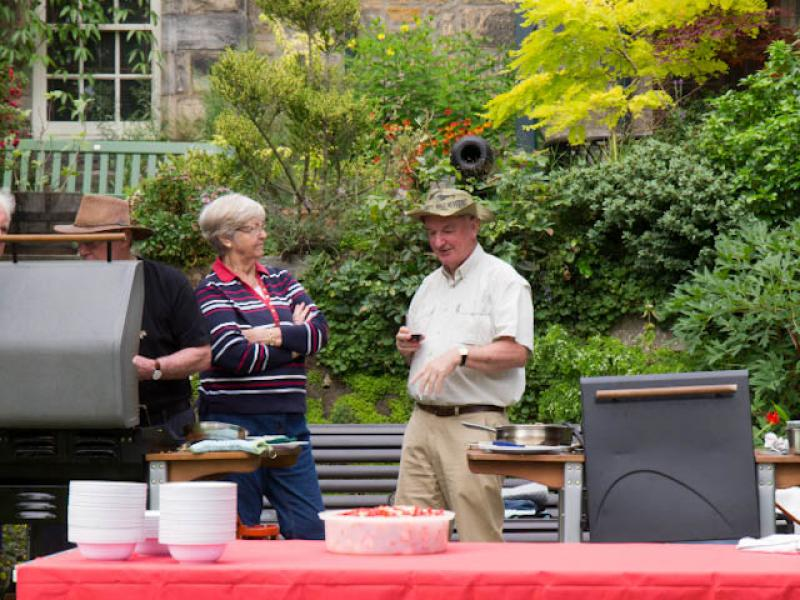 Summer Barbecue 2012 - President Iain Gow with Lindsay & Norma Stewart